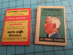 PUB615 Mini Livre Publicitaire Années 50/60 CAFE MARTIN MOKALUX MAISON DU CAFE CAIFFA / FLEMING Les Hommes Célèbres - Publicité