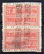 Algérie Colis-Postaux N° 12b Neuf * - Paire Tête-Bèche - Cote 26€ - Parcel Post
