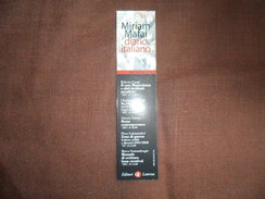 ANCIEN MARQUE PAGE  / PUB  LIVRE / DIARIO ITALIANO / MIRIAM MAFAI - Marque-Pages