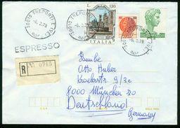 BR Italien, Treporti - 1978 Express R-Brief Nach BRD, München - 6. 1946-.. Republik