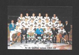 SPORTS - HOCKEY - LE CLUB DE HOCKEY LES AS DE QUÉBEC SAISON 1963-64 - Sports D'hiver