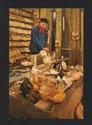 Postcard 60s HOLLAND Clogmaker Workshop Store Shoes Shoe Handcraft NETHERLANDS - Postcards