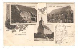 CPA 67  Multivues ( Ex Allemangne ) BETTWEILER Gruss ( 3 Vues ) Wirtschaft Roesser - Epicerie Hostin  - Kirche 1905 - Other Municipalities