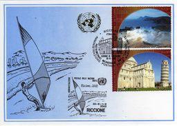 Nations Unie 2002 Unesco World Heritage Italy Welterbe Patrimoine Mondial FDC Riccione Card - UNESCO