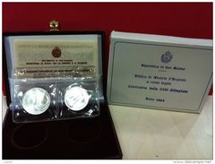 SAN MARINO - NUMISMATICA - Anno 1984 - 500+1.000 £ - Olimpiadi Dittico - Tiratura 49.080 - San Marino