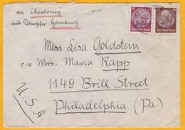 C.1925 - Envelop. De Berlin, Allemagne Vers Philadelphie, USA Via Cherbourg Et Paquebot Hambourg - Convoyeur - Germany