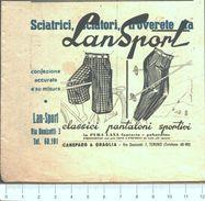 Advertising - Lan Sport Confezioni Torino - Pubblicità 1947 - Pubblicitari