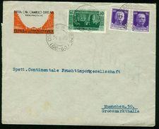 BR Italien, Coriano Veronese - 1929 Brief Nach Deutschland, München (Ditta Cav. Camillo Brena) - 1900-44 Victor Emmanuel III.