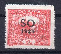 CZECHOSLOVAKIA   SO 1920 , MNH  ,PERFORATION  13 3/4 - Tchécoslovaquie