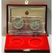 SAN MARINO - NUMISMATICA - Anno 1990 - 500+1.000 £ - Mondiali Di Calcio Dittico  - Tiratura 40.000 - San Marino
