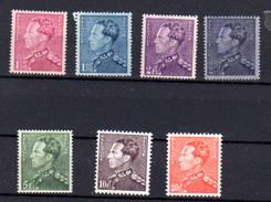 1936    Léopold III, (Poortman), 429 / 435**, Cote 190 €, - 1936-1951 Poortman