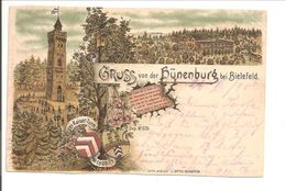 Gruss Von Der Hünenburg Bei Bielefeld. Litho - Bielefeld