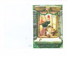Double Cpm - Fillette Garçon - Décorations NOEL - étoile Cloche Ciseaux Oiseau - Spain 2216.1 - Christmas
