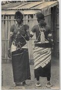 CPA Dahomey Ethnic Afrique Noire Type Fétiche à La Foudre Nu Féminin Femme Nue écrite - Dahomey