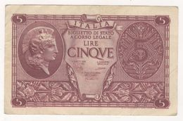 ITALIA-BIGLIETTO-DI-STATO-A-CORSO-LEGALE-VALE-DIECI-LIRE - [ 1] …-1946 : Royaume