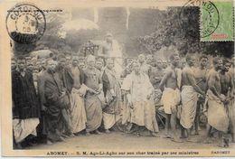 CPA Dahomey Ethnic Afrique Noire Type Roi Ago Li Agbo Circulé - Dahomey