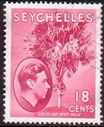 SEYCHELLES 1949 SG #139cb 18c Rose-carmine Used Ordinary Paper CV £17 - Seychelles (...-1976)