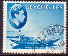 SEYCHELLES 1938 SG #140 20c Blue Used - Seychelles (...-1976)