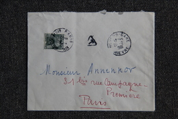Lettre Taxée 1961 - Marcophilie (Lettres)