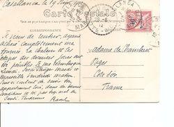 Maroc Français ( CP De 1912  De Casablanca Vers La France à Voir) - Briefe U. Dokumente