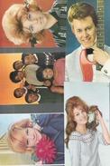 Z 1982  LOT 3  5 CARTES CHANTEURS ANNEE 60  OFFERTE PAR CORVISART  VARTAN DALIDA SHEILA  BILLY BRIDGE LES SURFS - Artistes