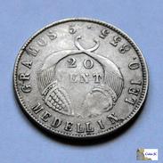Colombia - Medellín - 20 Centavos - 1884 - Kolumbien