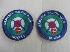 2 ARMERIA SACCHI NOVARA PATCHES SPORTS PROMO - Insegne