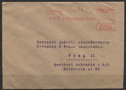 Deutsches Reich Absenderfreistempel Deutsche Bank Berlin 7.9.42 > Protektorat. Berlin W 8. - Briefe U. Dokumente