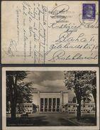 Deutsches Reich Dresden Hygienemuseum Ansichtskarte 2.4.43 > Prag. Marke Beschädigt, Brauner Fleck Adressseitig. - Briefe U. Dokumente