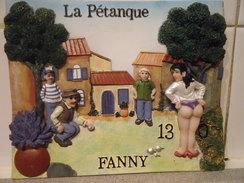 Relief En Résine Sur Platre : La Pétanque  Fanny - Pop Art