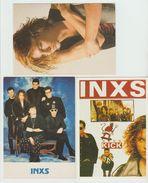 INXS  Lot De 3 Cartes Postales - Musique Et Musiciens