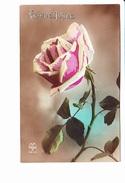 BONNE ANNEE, Rose, Ed. A. Noyer 1922 - Nouvel An