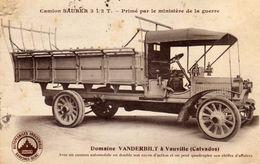 Camion SAURER 3 1/2 T. - Primé Par Le Ministère De La Guerre- Domaine VANDERBILT à Vauville - Frankreich