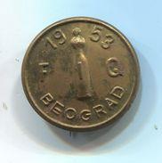 BOWLING / KEGELN - FIQ 1953. Belgrade Yugoslavia, Vintage Pin, Badge, Abzeichen - Bowling
