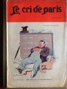 Le Cri De Paris Mai 1913 Encore Des Impots Marianne Ecrasee - Newspapers