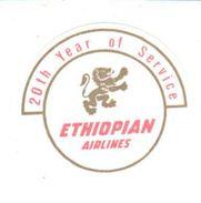 ETIQUETA DE HOTEL  -ETHIOPIAN AIRLINES - Pegatinas