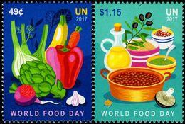 United Nations - New York - 2017 - World Food Day - Mint Stamp Set - New York - Hoofdkwartier Van De VN