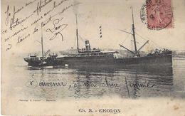 """PAQUEBOT """" CHOLON """" Cie Nationale - Steamers"""