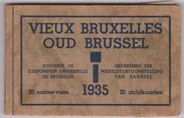 Bruxelles  Expositin Universelle 1935 Carnet 19 Cartes  Differentes  Vieux Bruxelles - Expositions Universelles