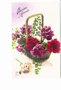 BONNE ANNEE, Oeillets En Panier, Ed. M 1910 Environ - Nouvel An