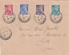 Timbre N 657 A 660 Sur Lettre Oblitéré Affranchissement, Pas De Cachet D'arrivée - Postmark Collection (Covers)