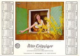 Buvard Vloeipapier - Alte Leipziger - Verzekeringen Assurances Antwerpen + Kalender 1966 - Banque & Assurance