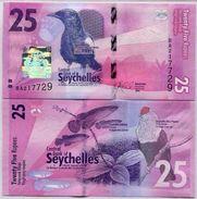 SEYCHELLES 25 RUPEES ND 2016 - Seychellen