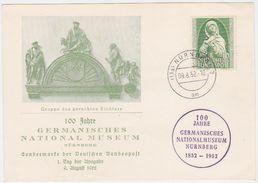 GERMANY 1952 (9.8.) ILLUSTR.FIRST DAY PC Mi 151 NÜRNBERG (Museum Jubilee) - Allemagne