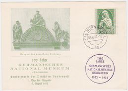 GERMANY 1952 (9.8.) ILLUSTR.FIRST DAY PC Mi 151 NÜRNBERG (Museum Jubilee) - Germany