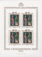 LIECHTENSTEIN  1979 - SERIE ORDINARIA SANTI PATRONI - MINIFOGLIO DI 4 ** - Blocks & Sheetlets & Panes