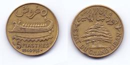 Lebanon 5 Piastres 1940 - Lebanon