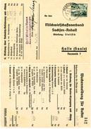 (Lo1186) Werbekarte DR St. Dessau N. Halle Wochenmeldung Für Butter - Allemagne