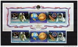 Niue 1989 Space Apollo 11 Moon Landing 20th Anniversary, Set Of 3 + S/s MNH - Océanie