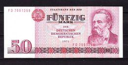 DDR, 50 Mark, Friedrich Engels, 1971 (43537) - [ 6] 1949-1990 : RDA - Rep. Dem. Tedesca
